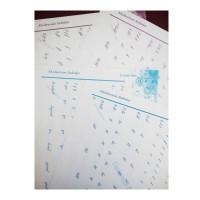 سرمشق  های آموزش سرهم نویسی  انگلیسی یا هندرایتینگ English Cursive handwriting