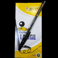 خودکار بیک کریستال لارج؛یک وشش دهم مشکی ؛مناسب برای شدت وضعف حداقل خرید 5 عدد
